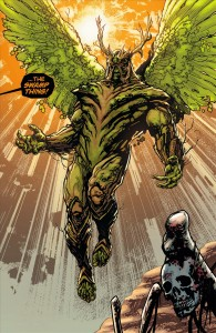 The full-strength (and now winged) Alec Holland Swamp Thing gets his first big reveal in #8.